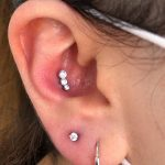 Beautiful conch piercing, with swarovski crystal jewellery by Joe Espin and Jay Bevins of Mala Piercing in Romford
