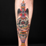 Bright and Bold Traditional, Old school style tattoo Tattooed by Ant Dickinson, Northernbuilt at Cult Classic Tattoo in Romford, Essex, just outside of London