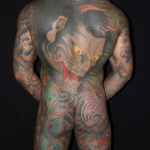 Full Japanese Back Piece with Hannya Demon and Snake, Tattooed by Aaron Hewitt at Cult Classic Tattoo in Romford Essex, just outside of London