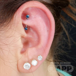 Luxury piercing by Joe Espin, APP affiliated piercer at Cult Classic Tattoo in Romford, Essex just outside of London