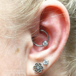 Beautiful faith piercing Luxury piercing by Joe Espin, APP affiliated piercer at Cult Classic Tattoo in Romford, Essex just outside of London